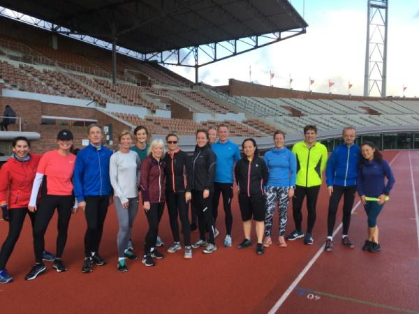 hardlopen in het Olympisch Stadion